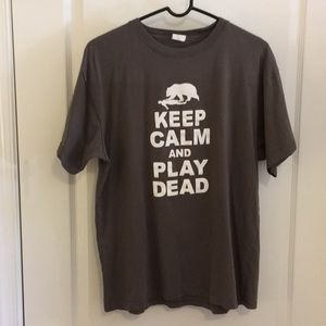Keep Calm and Play Dead -men's Large